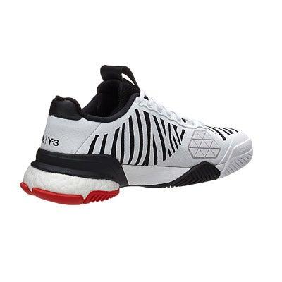 d02e061d2586f adidas Barricade 2016 boost Y3 White Black Men s Shoe 360° View