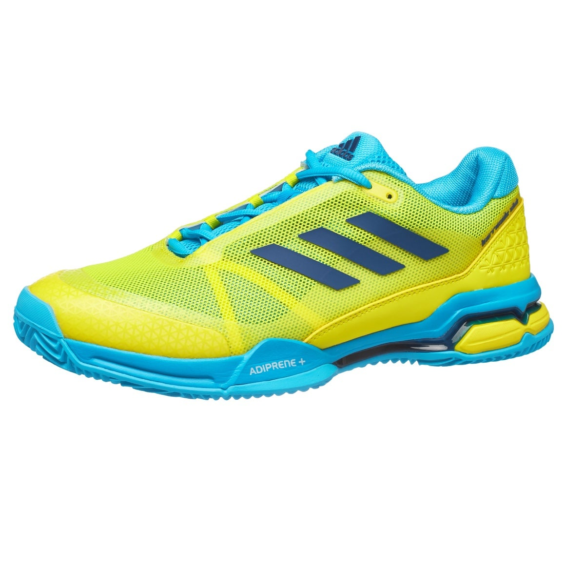 size 40 ebeae ec761 adidas Barricade Club Padel BlueYellow Mens Shoes 360° View