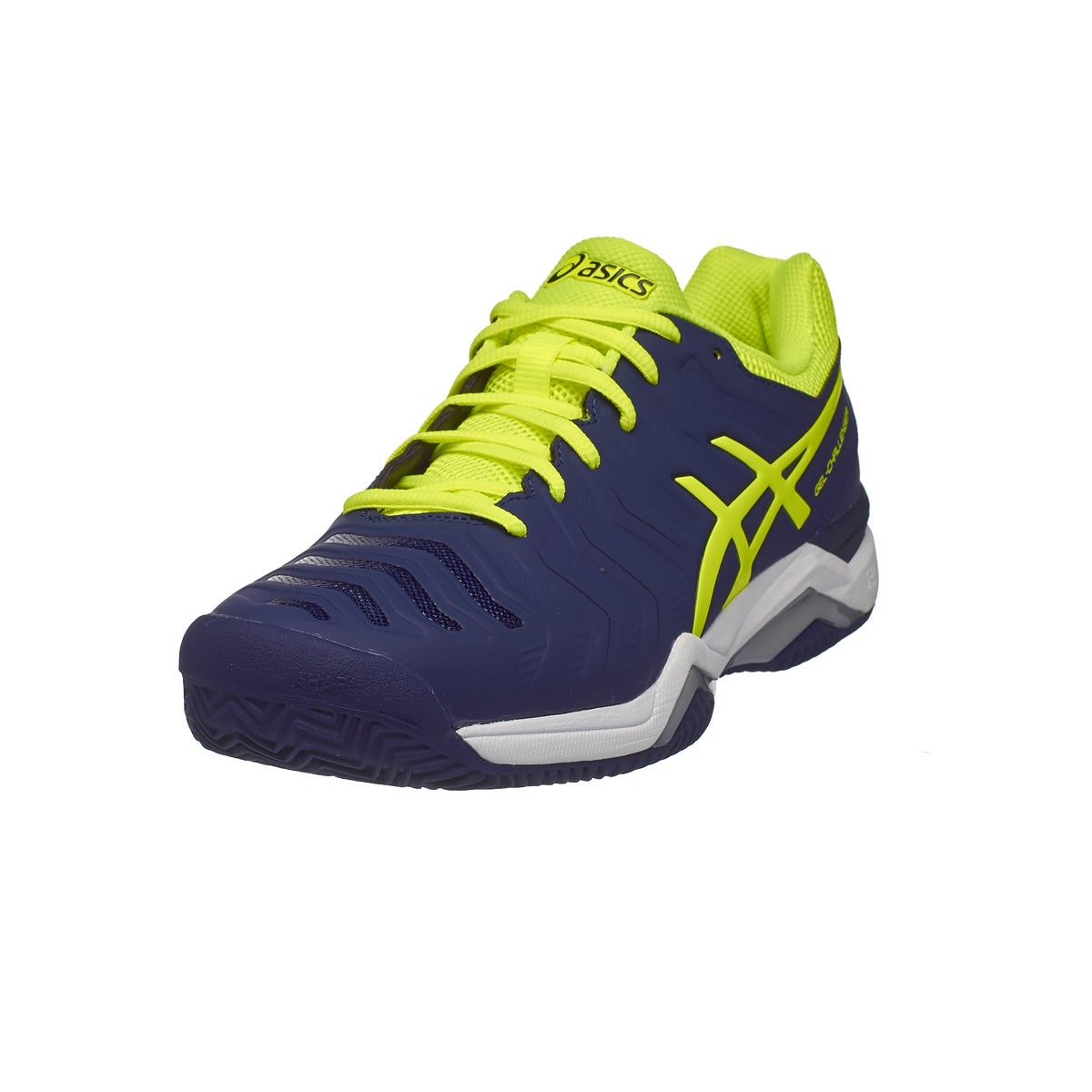 Asics Gel Challenger 11 Clay Bl/Ye/Si Men's Shoes 360° View.