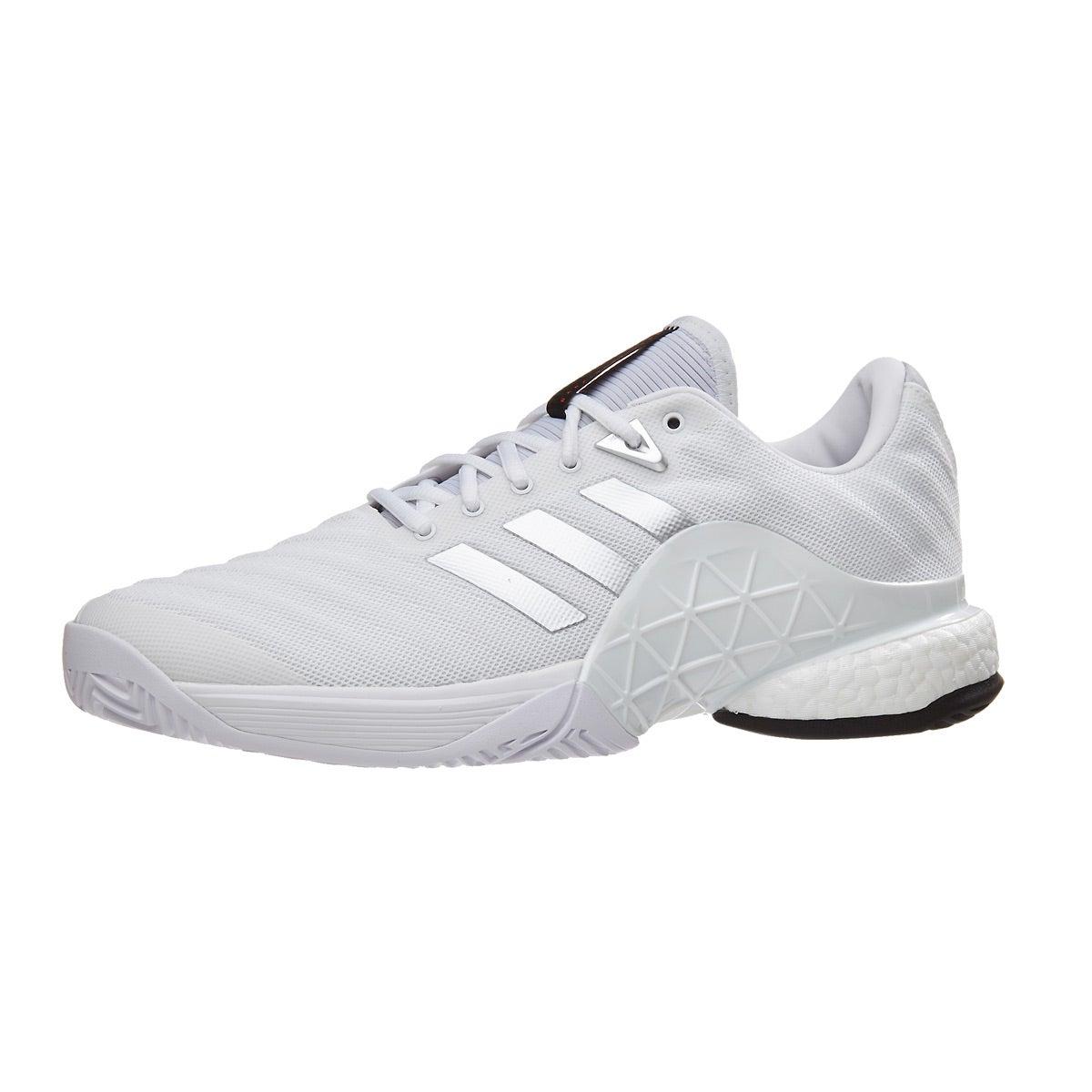 adidas barricata 18 impulso bianco / argento delle scarpe maschili 360 ° vista