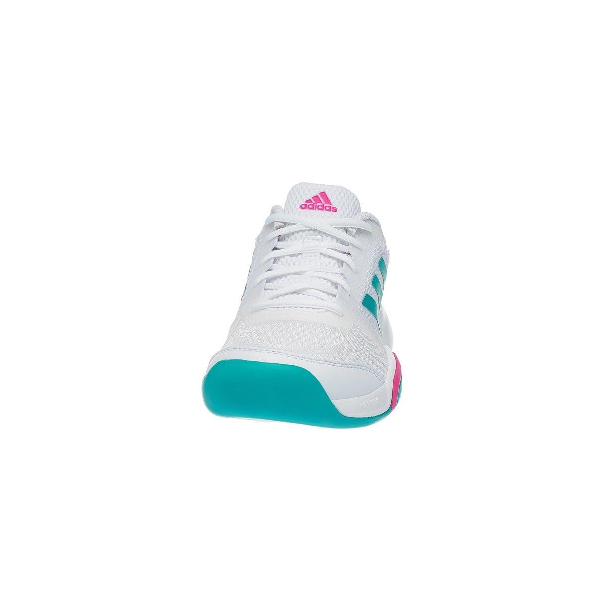 adidas Barricade Club Carpet WhiteAqua Women's Shoes 360° View
