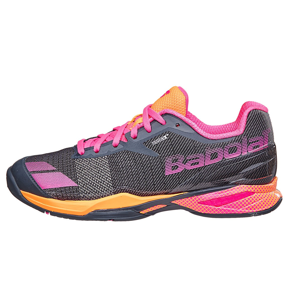 Babolat Tennis Shoes >> Babolat Jet AC Grey/Orange/Pink Women's Shoes 360° View