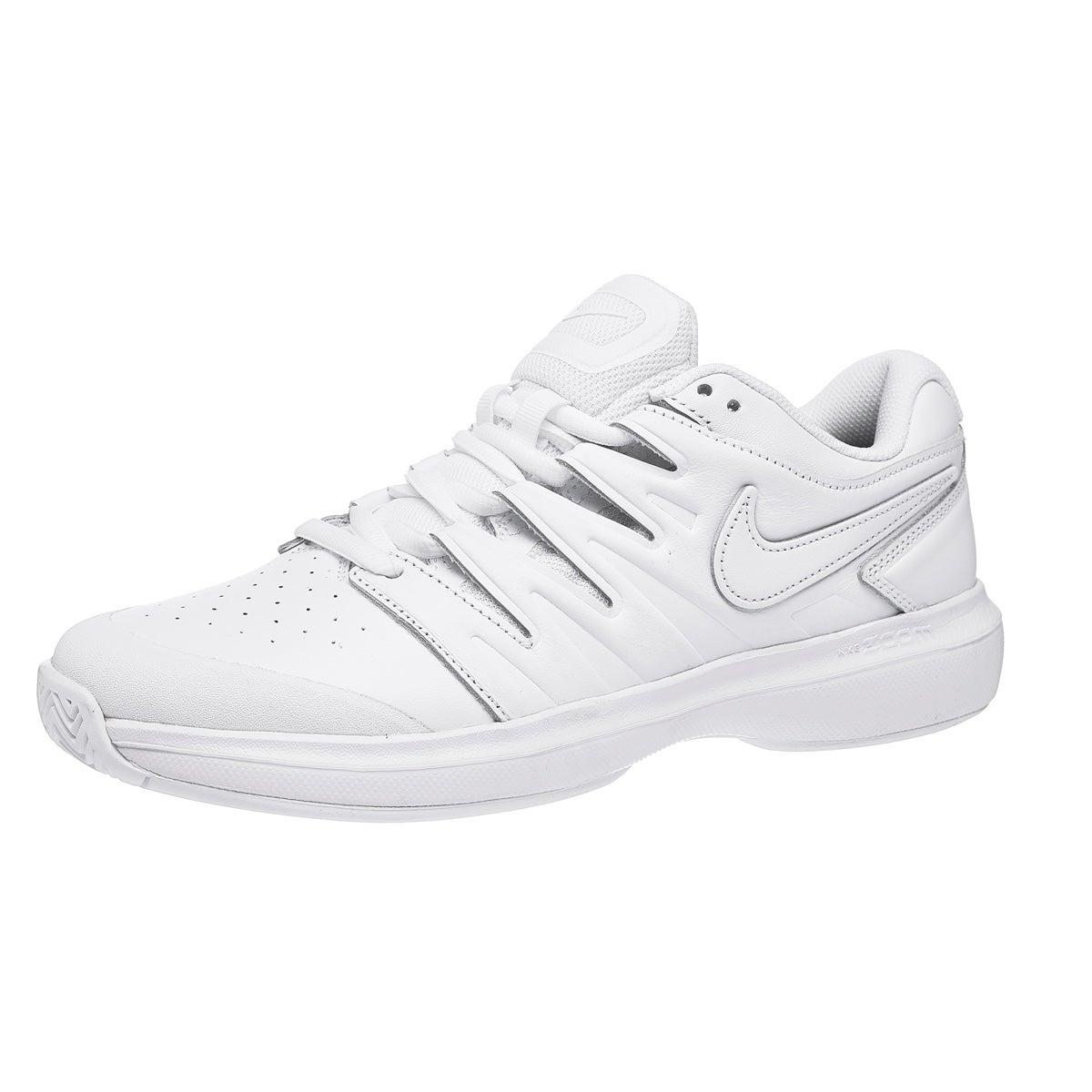 8cc9516e6ec2 Nike Air Zoom Prestige Leather White Black Men s Shoe 360° View