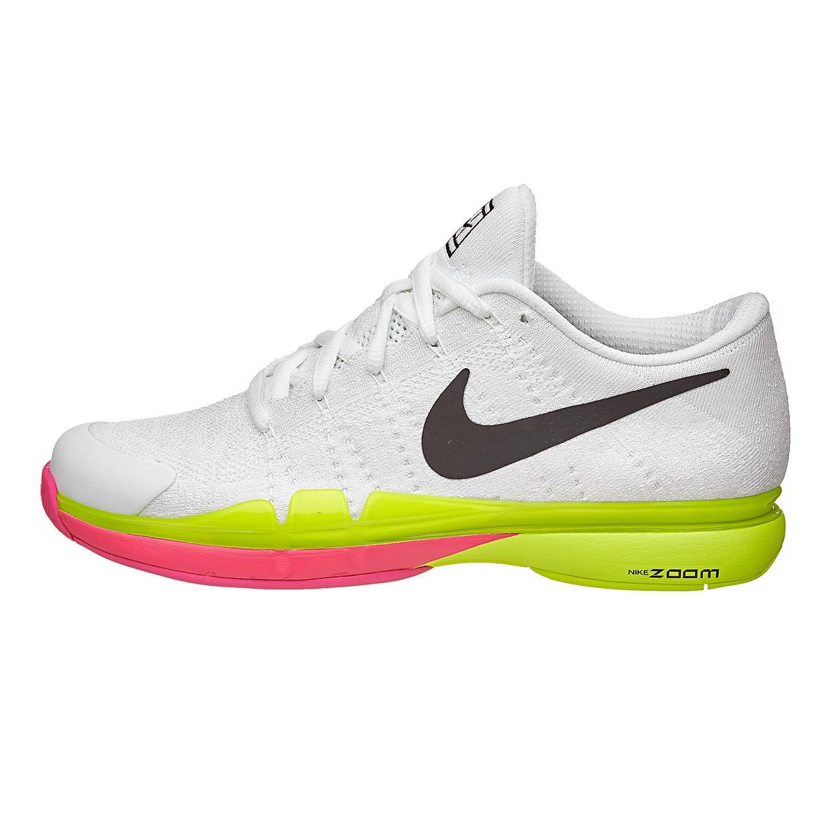 Nike Zoom Vapor   Flyknit Pink Wh Women S Shoe