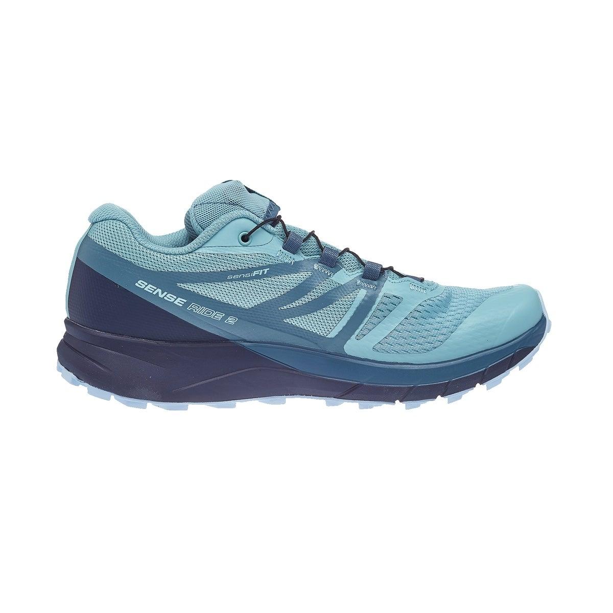 Salomon Sense Ride 2 GTX Invis Fit Women's Shoes Blue 360° View