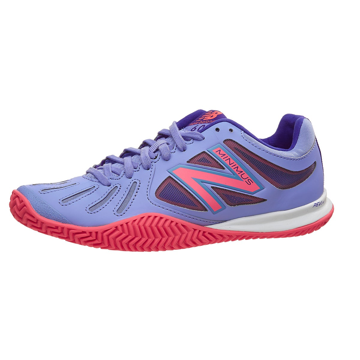 New Balance 60v1 CLAY Blue/Pink Women's Shoe 360° View.