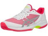 Zapatillas Mujer Asics Gel Court Speed Tierra Batida Blanco/Rosa
