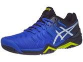 52115c16f Zapatillas Hombre Asics Gel Resolution 7 Negro Azul Amarillo