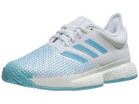 adidas SoleCourt Boost Sandplatz Damen Tennisschuh Blau