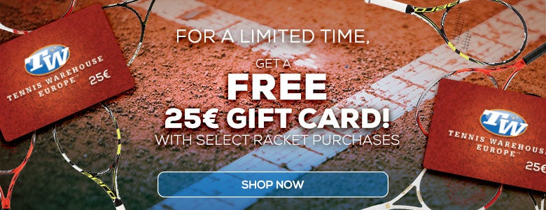 Free Gift Card with Select Racket Purchase!