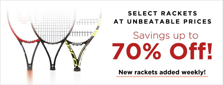 Racket Sale up to 70% off
