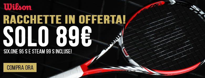 Wilson Six.One 95 S and Steam 99 S Racket Sale