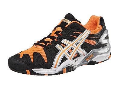 Robredo: Asics Gel Resolution 5 Black Orange Men's Shoe