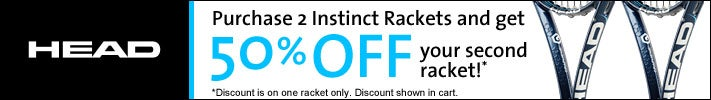 HEAD - Purchase 2 Instinct Rack & get 50% off your 2nd ra