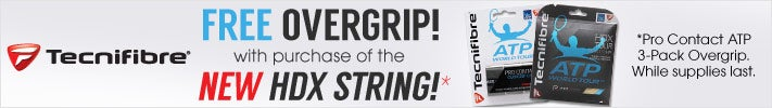 TECNIFIBRE - free overgrip w/purchase of NEW HDX String