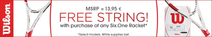 WILSON-Free string w/purchase of any Six.One Racket*