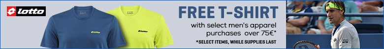 LOTTO-Free t-shirt w/select men�s apparel 75� orders