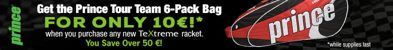 PRINCE-Bagpack promo (10 � only with a TeXtreme Racket)
