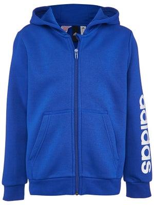 0779fc20467ba adidas Boy's Fall Linear Hooded Jacket - Tennis Warehouse Europe