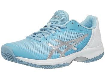 Zapatillas Mujer Asics Gel Court Speed Tierra Batida Azul/Plateado/Blanco