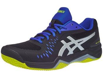 promo code 20e12 02ff1 Asics Gel Challenger 12 Clay Bk Blue Yellow Men s Shoes