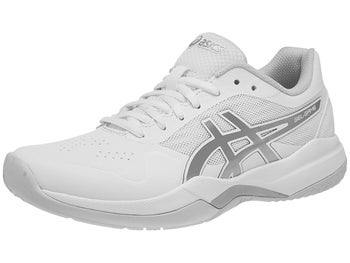 buy online c3acf dbdba Asics Gel Game 7 White Grey Silver Women s Shoes