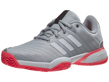 1ee4d2747 adidas Barricade Club XJ Silver White Red Junior Shoes - Tennis Warehouse  Europe