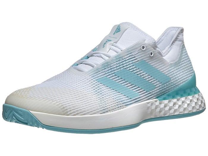 promo code 2a71b 0eb9a adidas Adizero Ubersonic 3 Parley WhiteBlue Mens Shoe