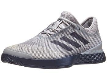 online store a359c 5decd adidas adizero Ubersonic 3 Grey Navy Men s Shoe - Tennis Warehouse Europe