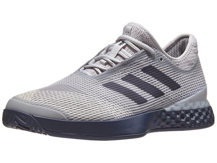 save off superior quality on feet shots of adidas adizero Ubersonic 3 Grey/Navy Men's Shoe - Tennis ...