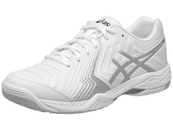 new style 3019c 57def Asics Gel Game 6 White Silver Men s Shoes