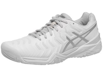 3fd2d6cae527 Click for larger view. 360 View · Asics Gel Resolution 7 White Silver Mens  Shoes ...
