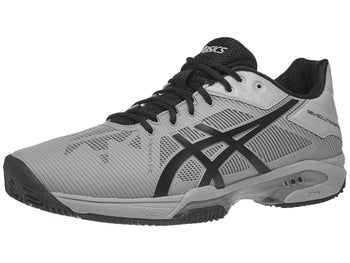 2229abc9e6be2 Asics Gel Solution Speed 3 Clay Grey Black Men's Shoes - Tennis ...