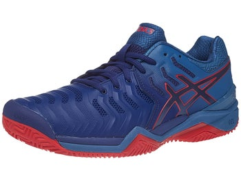 Asics Gel Resolution 7 Clay Blue Red Men s Shoes - Tennis Warehouse ... 51c06ea00
