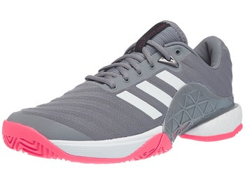 save off 25f2c 1d1bf adidas Barricade 18 Boost Silver Scarlet Men s Shoe - Tennis Warehouse  Europe