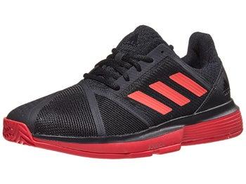 wholesale dealer 2cdf0 d317a adidas CourtJam Bounce Black Red Men s Shoe - Tennis Warehouse Europe