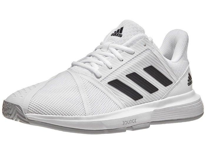 Depender de Biblia Hacia fuera  adidas CourtJam Bounce White/Black Men's Shoe - Tennis Warehouse ...