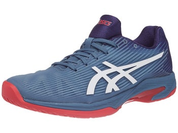 Asics Gel Solution Speed FF Blue Red Men s Shoes - Tennis Warehouse ... 88bf2e3ab