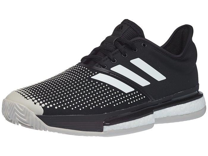 adidas SoleCourt Boost Clay Black/White Men's Shoe - Tennis