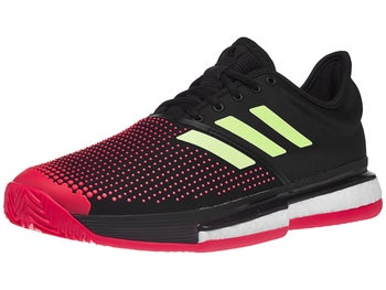 112ded2a4 adidas SoleCourt Boost Clay Black Red Men s Shoe - Tennis Warehouse ...