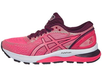 1b4640188 ASICS Gel Nimbus 21 Women s Shoes Pink Cameo White - Tennis Warehouse Europe