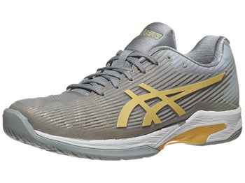 ce3fe03d Asics Solution Speed FF Stone Grey/Gold Men's Shoes - Tennis Warehouse  Europe