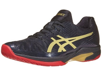 separation shoes eac9b ad68e Chaussures Homme Asics Solution Speed L.E Noir Rouge Or - Tennis Warehouse  Europe