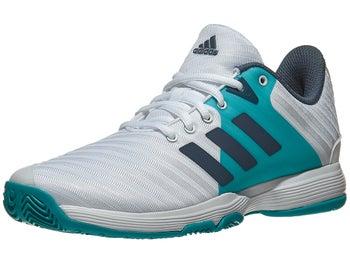 buy online baef8 197e7 Scarpe adidas Barricade Court SilverAqua Donna - Tennis Warehouse Europe