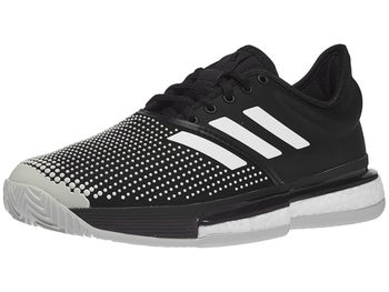 fe9071cb9c0 adidas SoleCourt Boost Clay Black Women s Shoes - Tennis Warehouse Europe