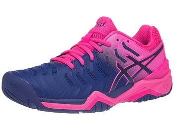 b49de27cc75dd Scarpe Asics Gel Resolution 7 Pink Navy Donna - Tennis Warehouse Europe