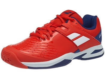 3242f33cdffb0 Chaussures Junior Babolat Propulse AC Rouge Bleu - Tennis Warehouse Europe
