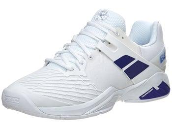 Babolat Propulse AC Wimbledon White Blue Men s Shoes - Tennis ... 027038aad81