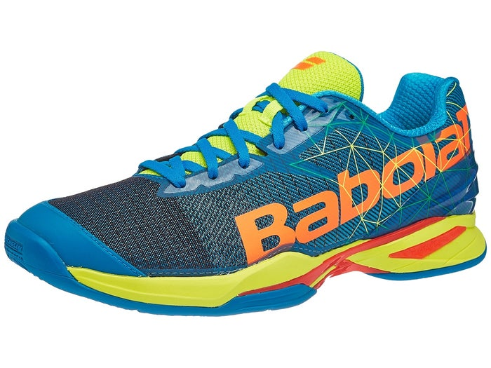 nueva estilos 49374 b2bc0 Babolat Jet Padel Blue/Orange Men's Shoes - Tennis Warehouse ...