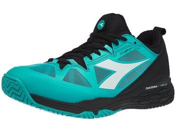 ea1305db41629 Diadora Speed Blushield Fly 2 AG Black/Green Men's Shoe - Tennis ...